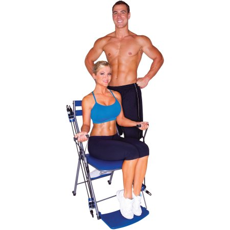 As Seen on TV Chair Gym Total Body Workout , Blue