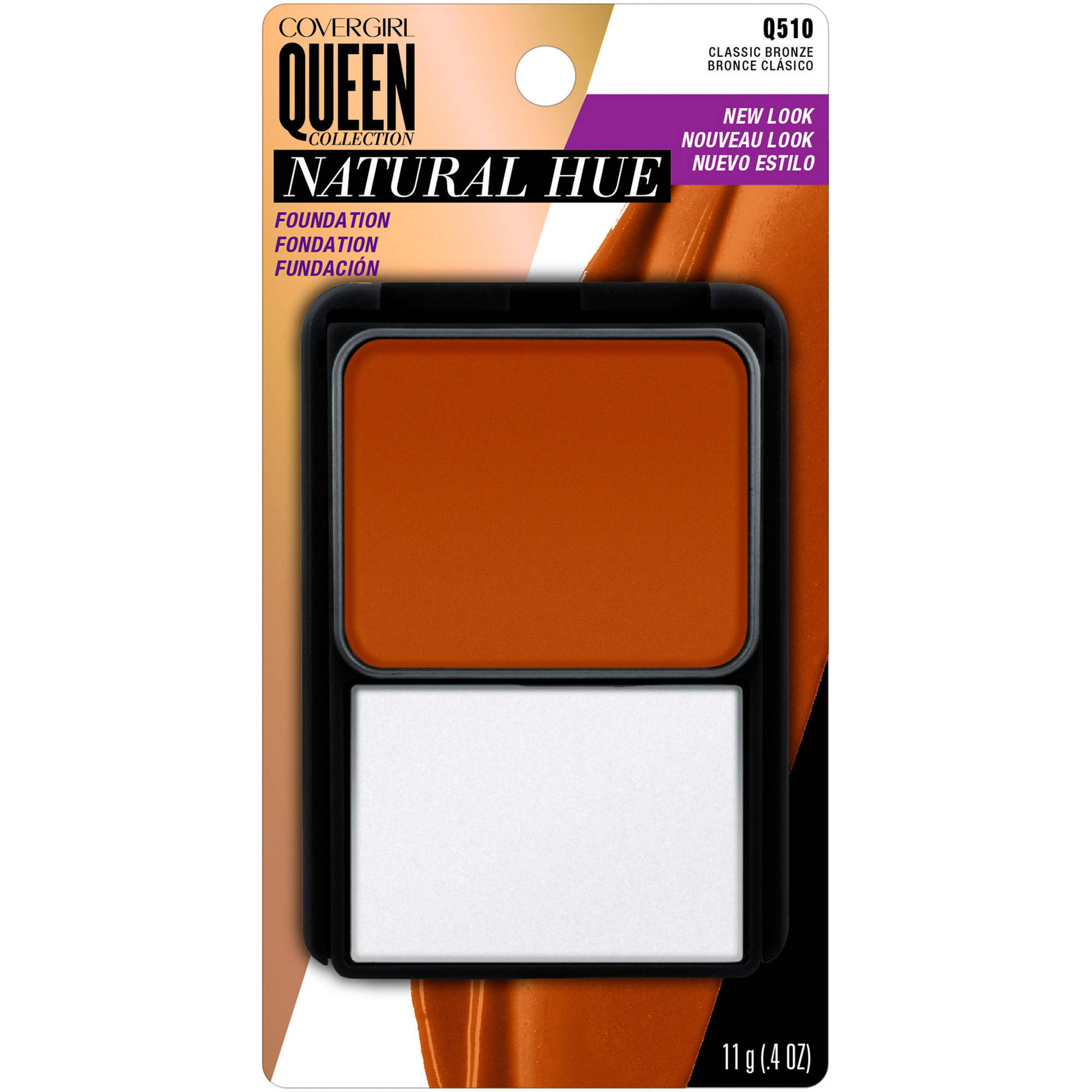 COVERGIRL Queen Natural Hue Compact Foundation, Classic Bronze 510, 0.4 oz