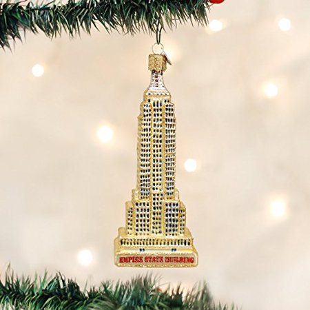 Old World Christmas Empire State Building Glass Blown Ornament