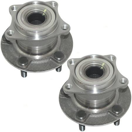 Pair Set Rear Wheel Hub Bearings Replacement for Mazda SUV 4-Wheel Drive G33S-26-15XB HA590193 512350