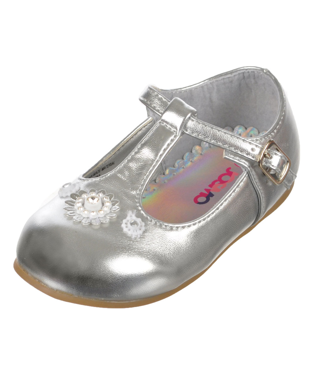 """Josmo Baby Girls' """"Floral T"""" Mary Janes by Josmo"""