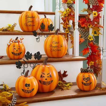 Personalized Design Your Own Halloween Pumpkin Family-Large Hypnotic - Make Your Own Halloween Yard Decor