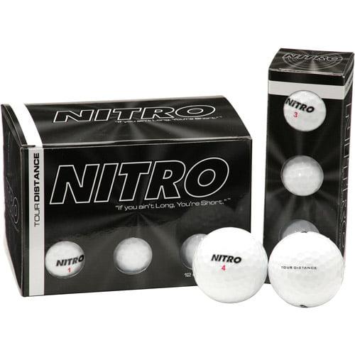 Nitro Tour Distance Double Dozen White Golf Balls, 24 Count