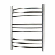 WarmlyYours TW-R09BS-HW Towel Warmer Riviera Hard-wire 9-bar Brushed Stainless