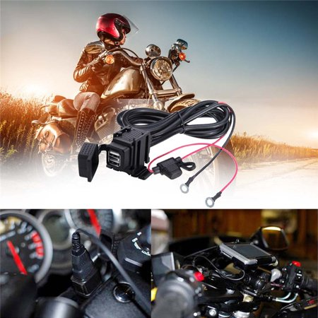 12v Waterproof Motorbike Motorcycle USB Charger Power Socket Adapter