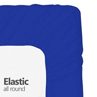Crescent Bedding Twin Extra Long Fitted Sheet Only - Soft & Comfy 100% Cotton (Twin XL, Royal)