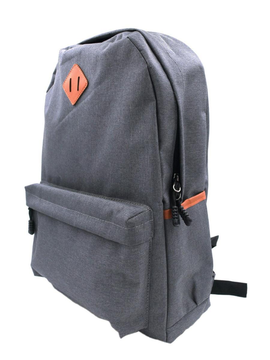 Classic Solid Color Canvas Backpack Student School Travel Shoulder Bag