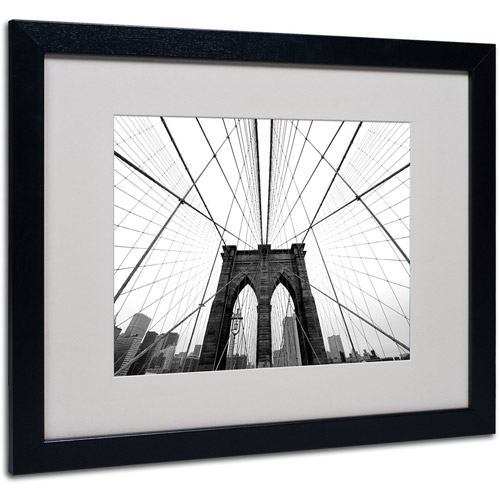 Nina Papiorek 'NYC, Brooklyn Bridge' Matted Framed Art