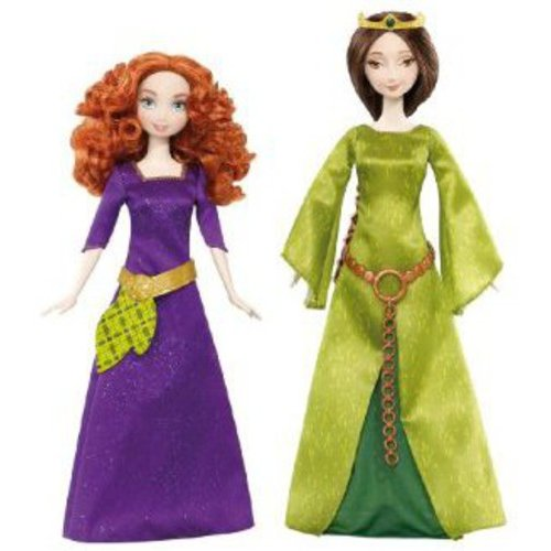 Disney Pixar Brave Merida And Queen Elinor Doll Set Of 2