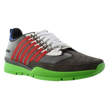 Dsquared2 - Dsquared2 Mens Grigio Rosso Multi-Color Tennis Shoes Size 10 New  - Walmart.com e5ee3c9cfd1