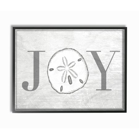 The Stupell Home Decor Collection Joyful Summer Sand Dollar Oversized Framed Giclee Texturized Art, 16 x 1.5 x 20