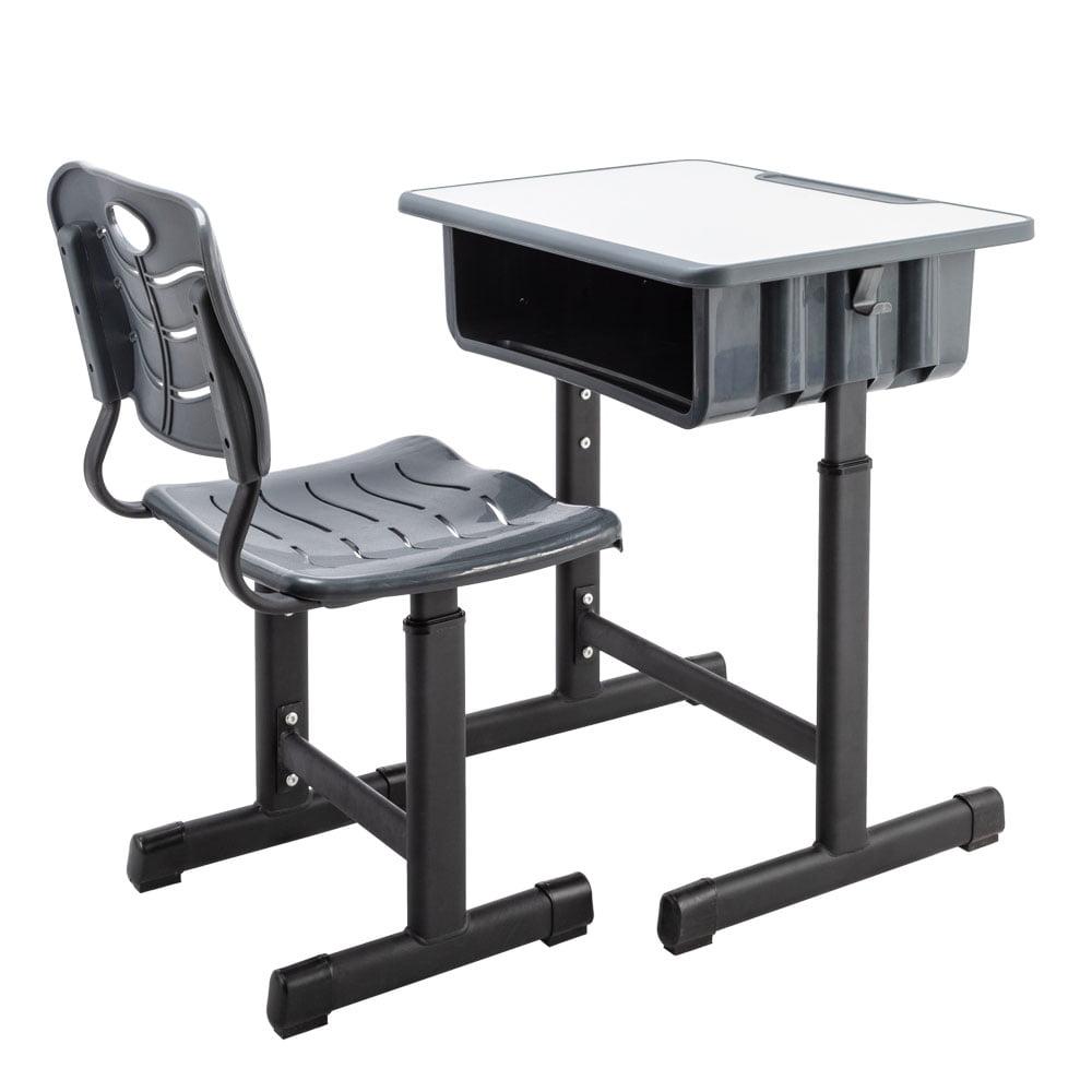 Height Adjustable Kids Desk & Chair Set, Student Study