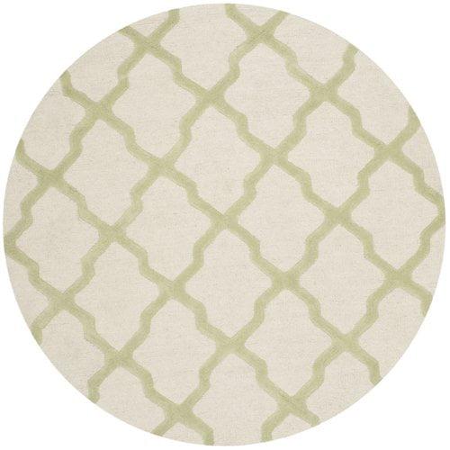 Charlton Home Gillam Hand-Tufted Wool Payne's Gray / Ivory Area Rug