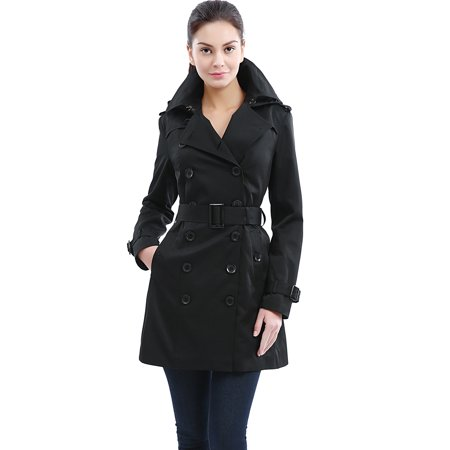 Women's Madison Hooded Waterproof Mid Length Trench Coat
