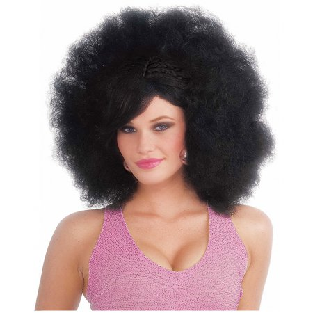 Black Pop Afro Adult Halloween Costume Accessory Wig - Great Halloween Pop Songs