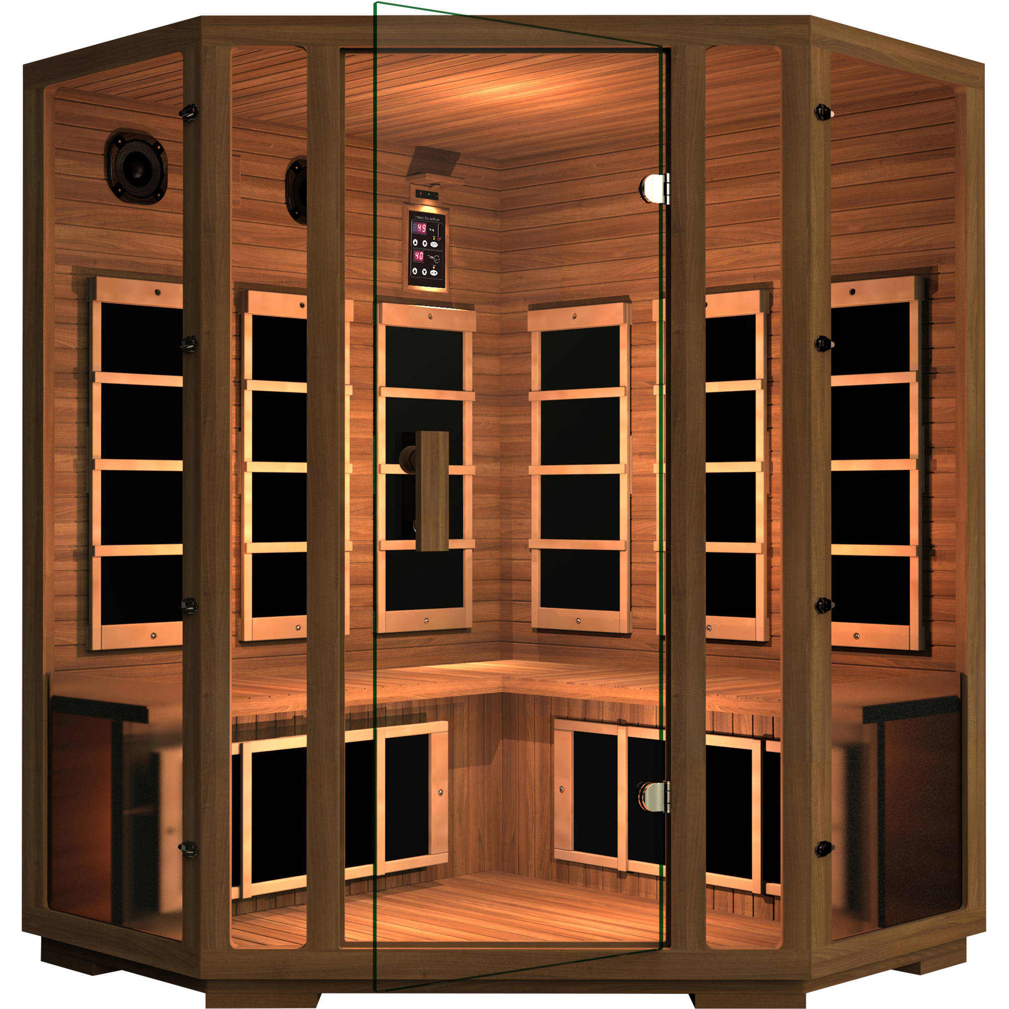 Freedom 4-Person Corner Far Infrared Sauna by JNH Lifestyles
