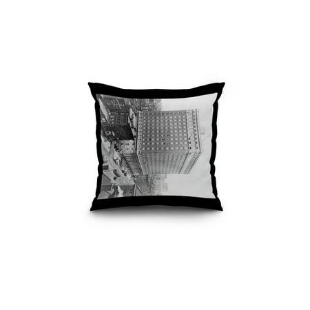 Ritz-Carlton Hotel on Madison Avenue and 46th Street NYC Photo (16x16 Spun Polyester Pillow, Black Border)