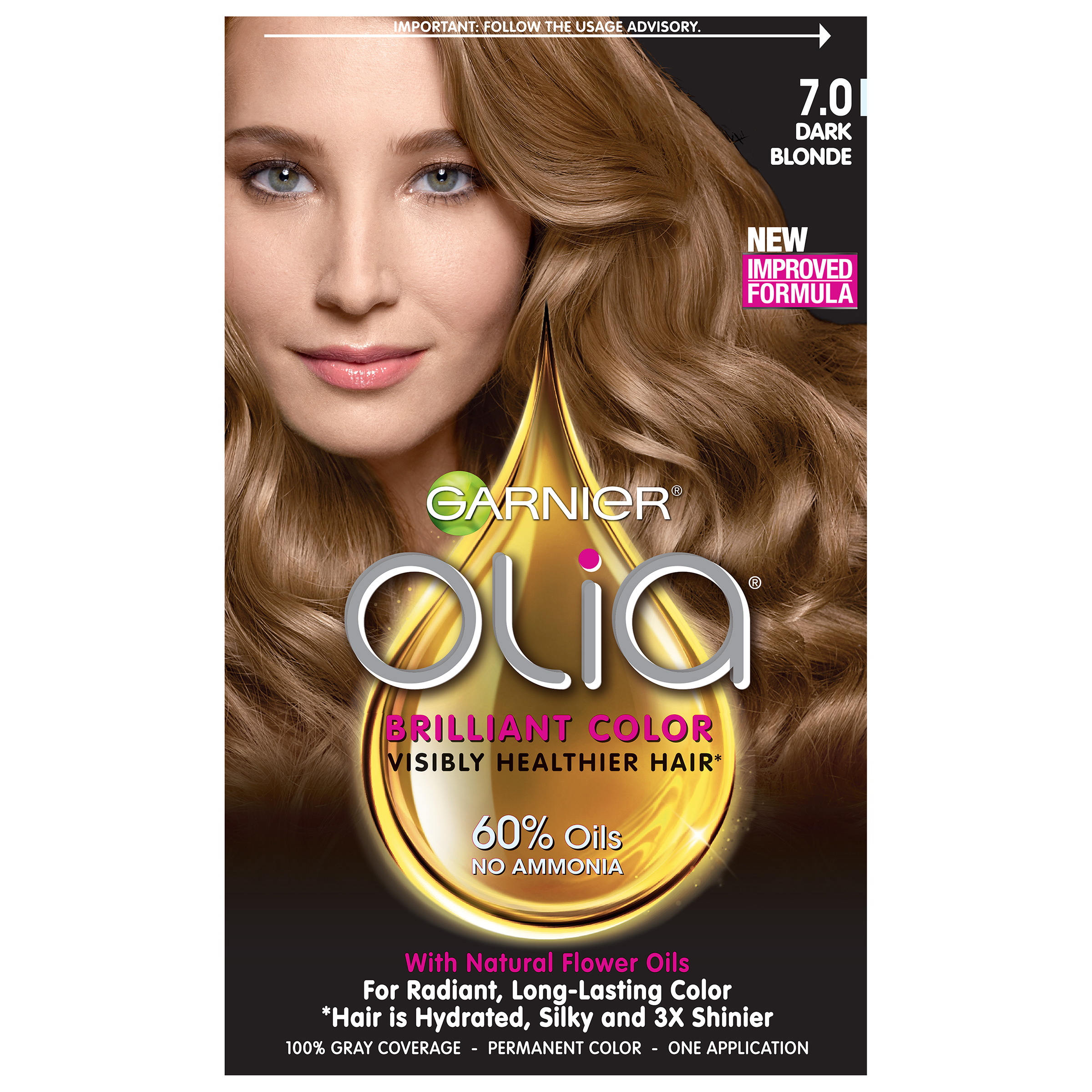 garnier olia oil powered permanent hair color 7 0 dark