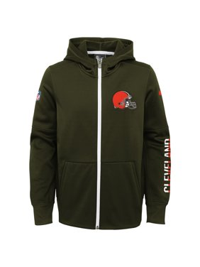 4e724ddb78 Product Image Youth Nike Brown Cleveland Browns Circuit Therma-FIT Full-Zip  Hoodie