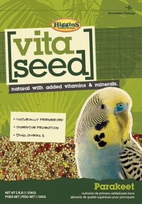 Higgins Vita Seed Parakeet Bird Food, 2.5 lb by Higgins