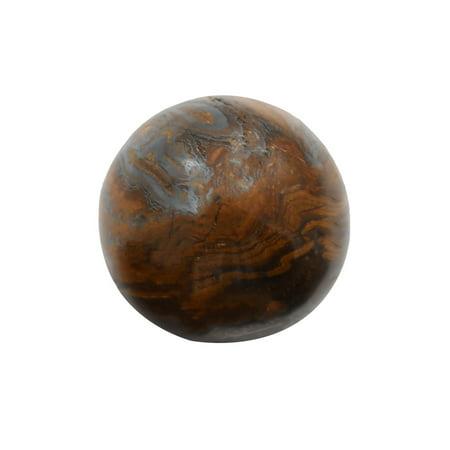 Tiger Iron Sphere Reiki Stone Chakra Balance Aura Heal Crystal