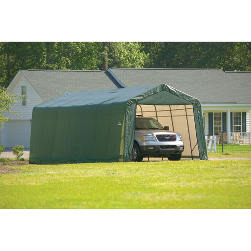 Shelterlogic 13' x 28' x 10' Peak Style Carport Shelter