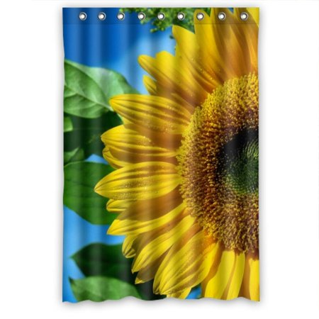Ganma Delicate Tender Sunflower Shower Curtain Polyester Fabric Bathroom 36x72 Inches