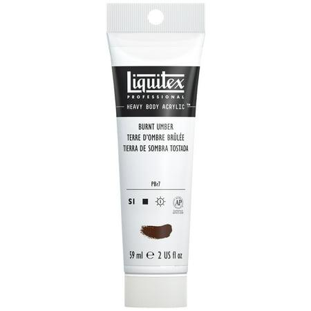 Liquitex Professional Heavy Body Acrylic Color, 2 oz. Tube, Burnt Umber Acrylic Colors 2 Oz Tube