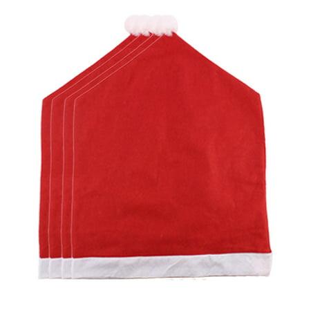 Unique Bargains 4 Pcs Home Non-woven Chair Cover Christmas Hat Designed (Unique Christmas Hats)