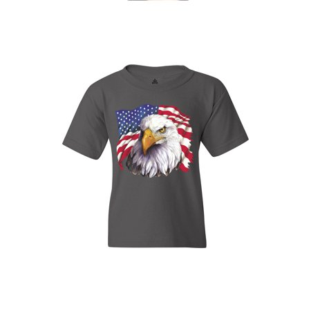 Shop4Ever Youth American Flag National Symbol Eagle July 4th Graphic Youth T-Shirt - Eagle Boys Coupon Code