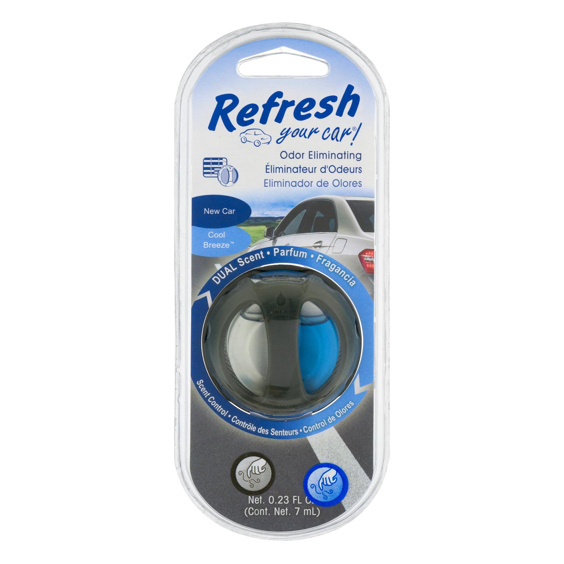 Refresh Your Car Cool Breeze Dual Scent Odor Eliminating Scent Control, 0.23 fl oz