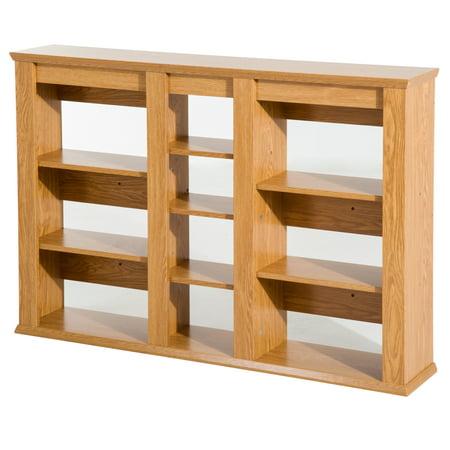 Wall Mount CD / DVD Media Storage Shelf Rack - Light Oak ()