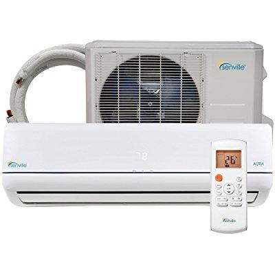senville sena-09hf-z 9000 btu 25 seer split air conditioner and heat pump, mini