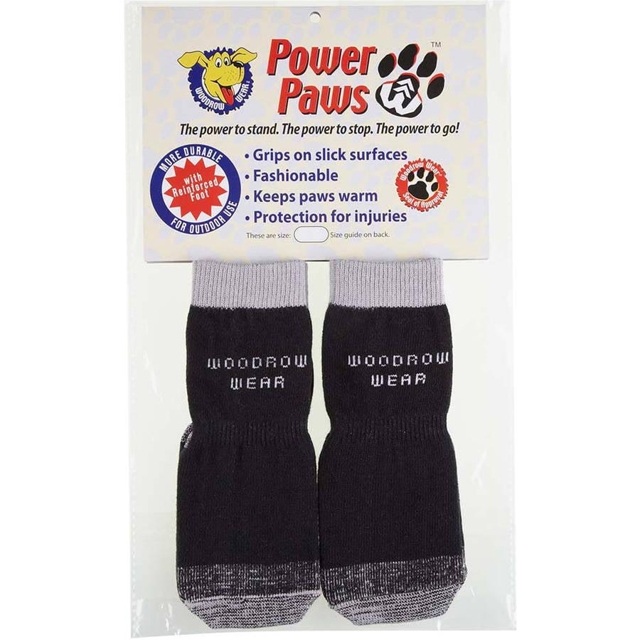 """Woodrow Wear Power Paws Grey Hound Reinforced Foot, Small, Black/Grey, 1.4"""", 1.6"""" x 1.75"""", 2.4"""""""