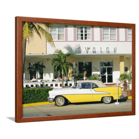 The Avalon Hotel An Art Deco On Ocean Drive South Beach Miami Florida Usa Framed Print Wall By Fraser Hall