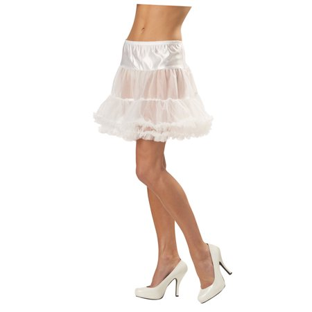 Ruffled Pettiskirt Accessory (White) - Halloween Pettiskirts