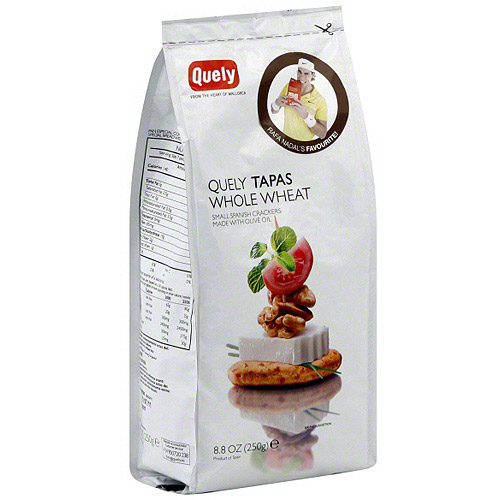 Quely Tapas Whole Wheat Crackers, 8.8 oz (Pack of 8)