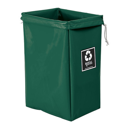 Enviro Hamper Bag, 30 gal, green vinyl ROYAL BASKET TRUCK G00-EEX-EBN