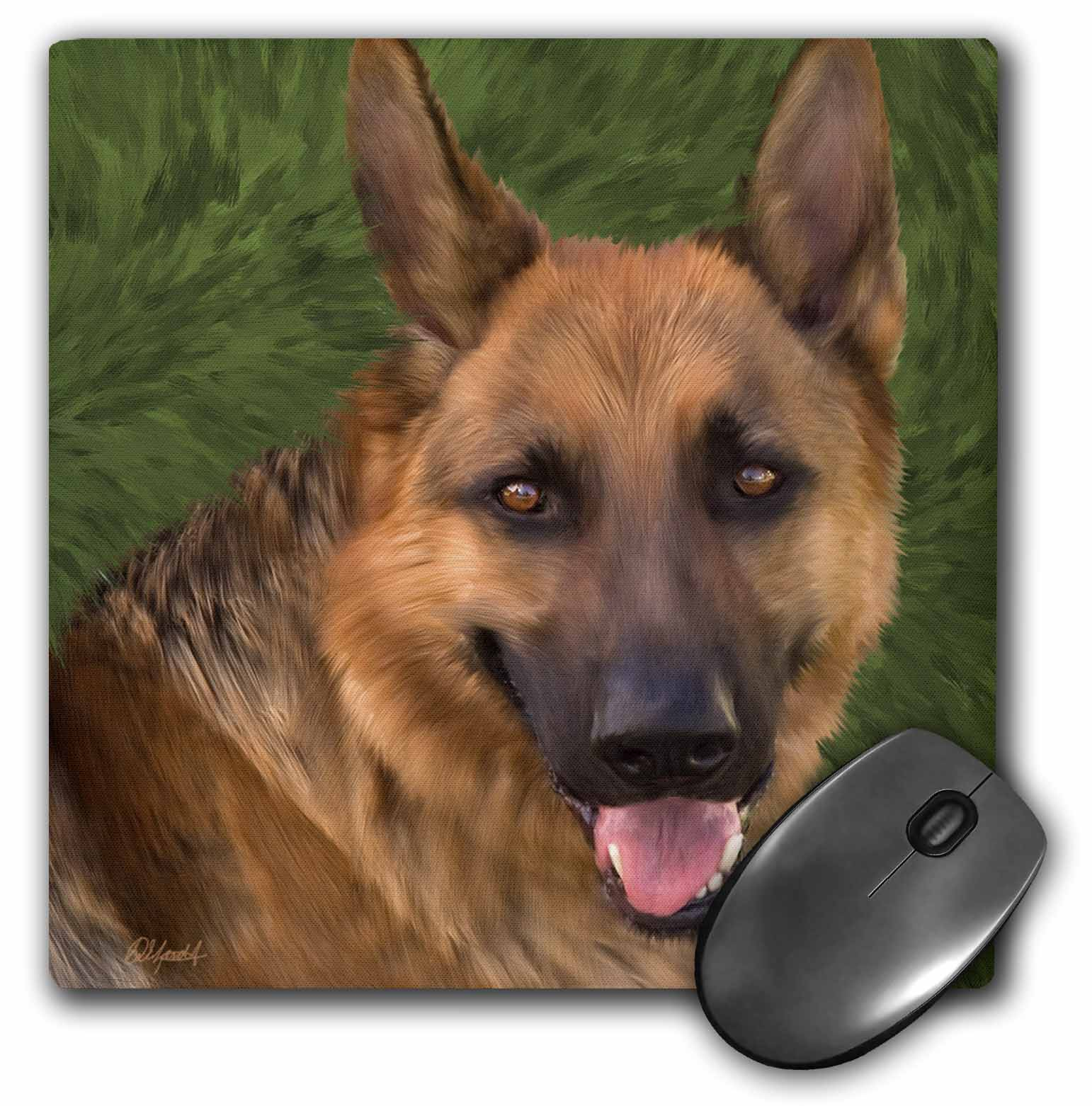 3dRose German Shepard, Mouse Pad, 8 by 8 inches