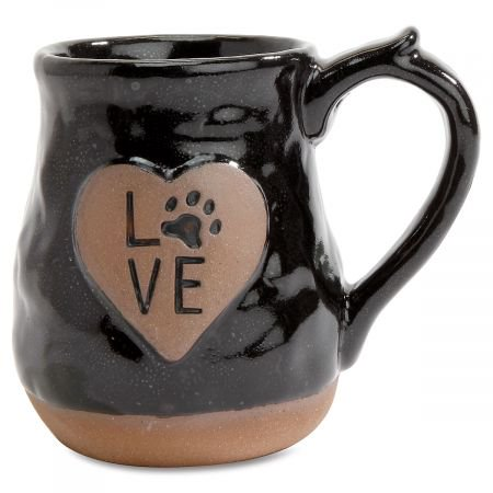 Extra Large Coffee Mugs - Love Pawprint Mug- Large 20 Ounce Coffee Cup For Pet Lovers