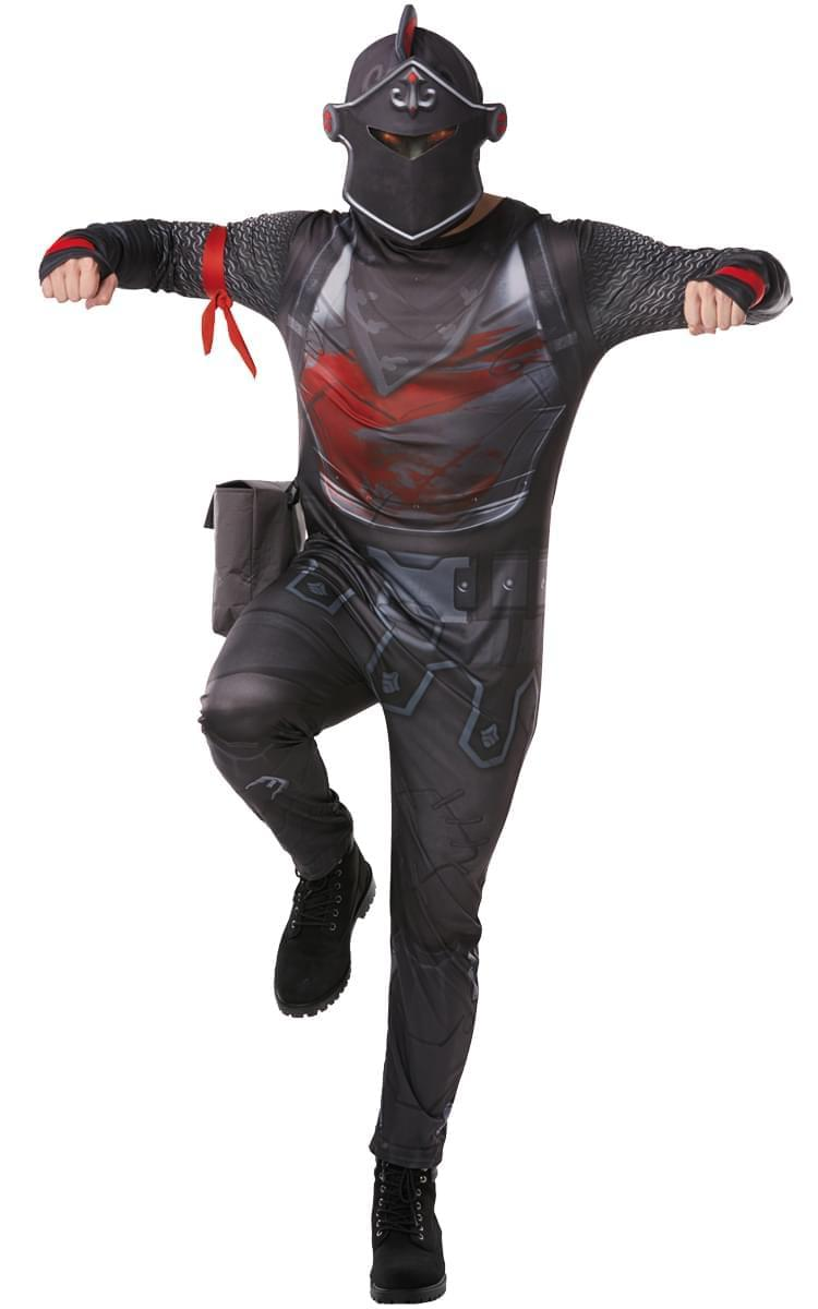 Fortnite Black Knight Tween Costume Jumpsuit w/ Mask \u0026 Accessories , Small  9,10 yrs