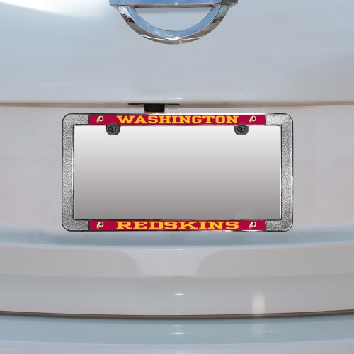 Washington Redskins Metal Thin Rim Acrylic Laser-Cut License Plate Frame - No Size