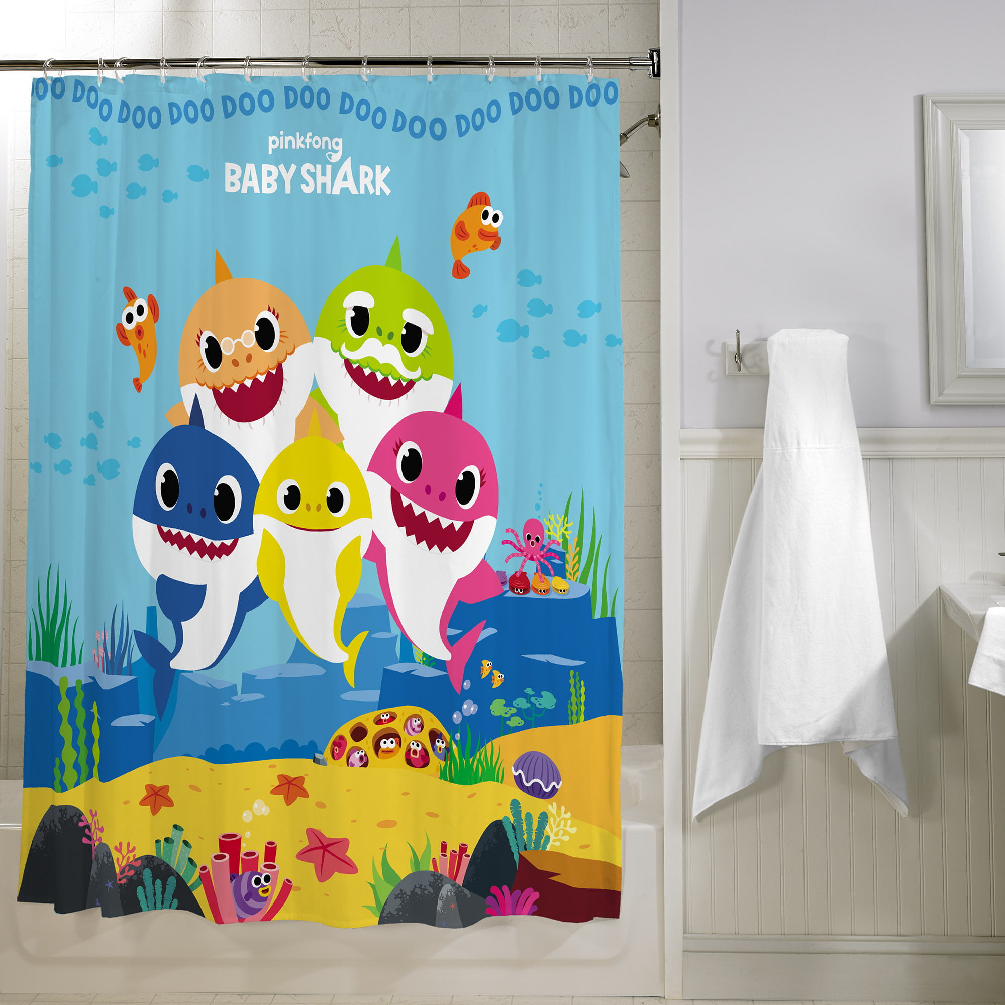 Baby Shark Kids Bathroom Decorative