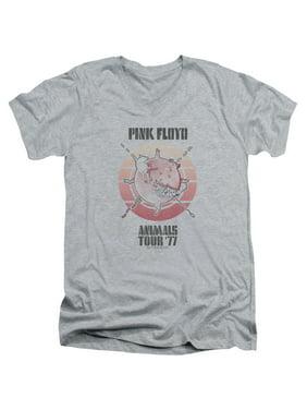 26dbaf54 Product Image Pink Floyd/Animals Tour 77 Mens V-Neck Shirt (Athletic Heather,  Small