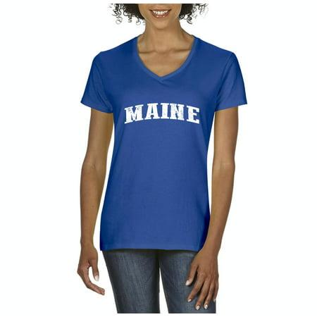 Maine T Shirt Me Home University Of Maine Black Bears  Womens Shirts V Neck