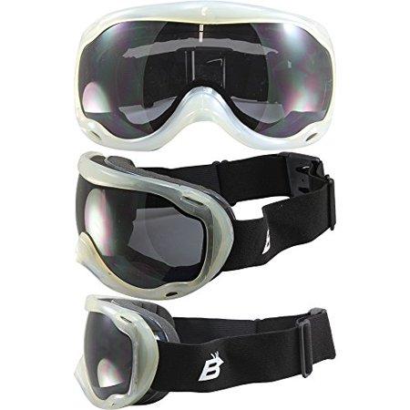 Smoke Goggles - Birdz Raptor Goggles Clear Frames Double Smoke Lens Dual Vented Anti Fog New Have DVS System or Dual Venting System; Venting System to Maximize Air Circulation Inside Prevent Condensation