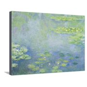 Waterlilies Impressionist Water Lilies Scene Stretched Canvas Print Wall Art By Claude Monet
