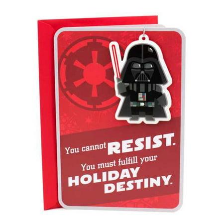 Hallmark Star Wars Christmas Card (With Darth Vader Ornament) ()