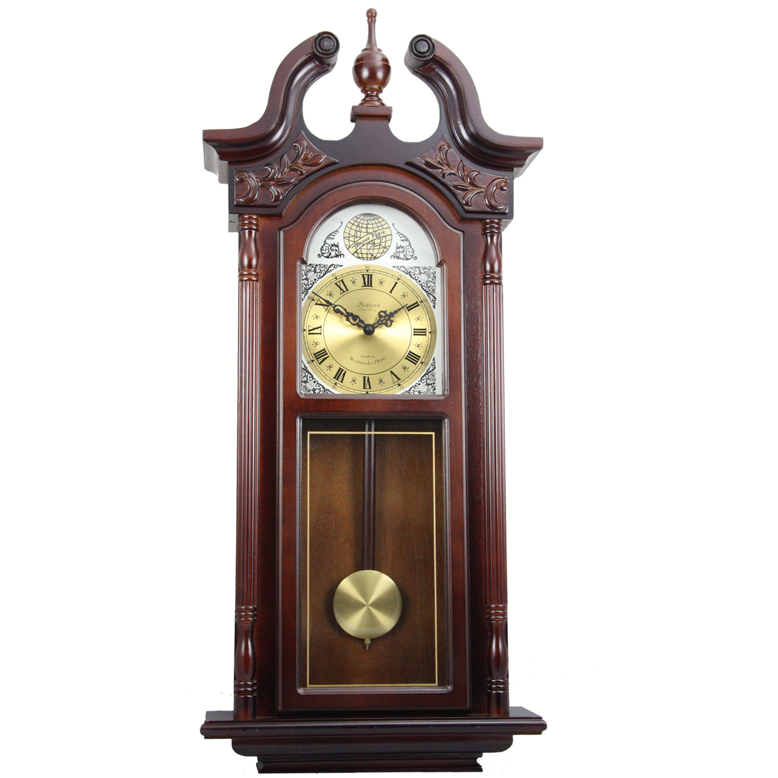 "Bedford Clock Collection 38"" Grand Antique Chiming Wall Clock with Roman Numerals in... by Supplier Generic"