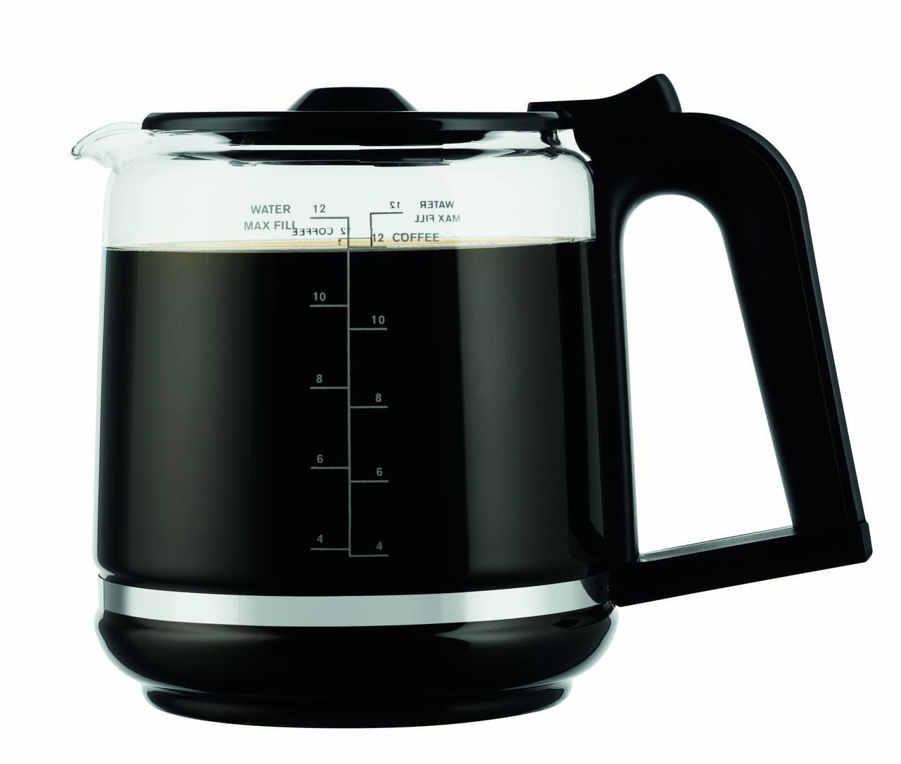 Black KRUPS EC3110 12-Cup Glass Carafe Programmable Coffee Maker